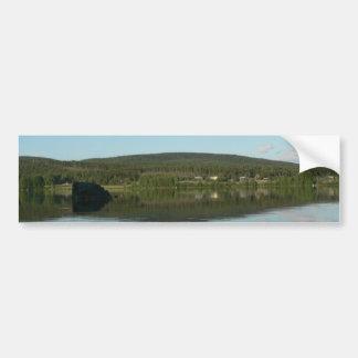 Mirror Lake With Green Hill Bumper Sticker