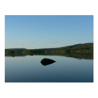 Mirror Lake With Stone In Water Postcard