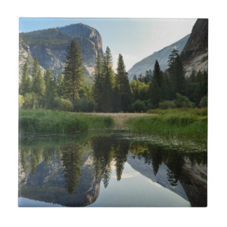 Mirror Lake, Yosemite Small Square Tile