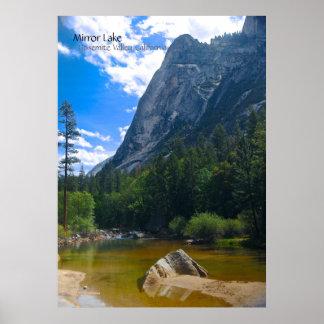 Mirror Lake ~ Yosemite Valley CA Poster