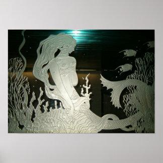 Mirror Mermaid Poster