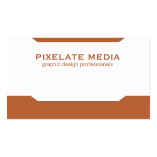 Mirrored angle pattern burnt orange professional pack of standard business cards