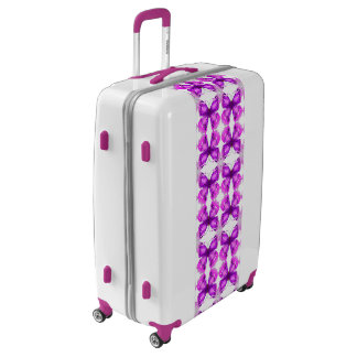 Mirrored Awareness Butterflies Luggage