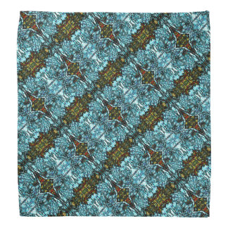 Mirrored Blue Monarchs Patterned Bandana