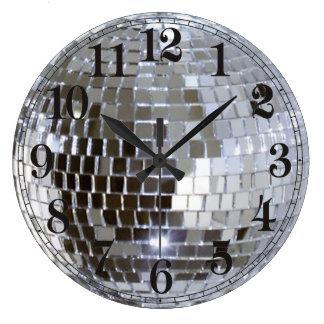 Mirrored Disco Ball 1 Large Clock