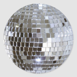 Mirrored Disco Ball 1 Round Sticker