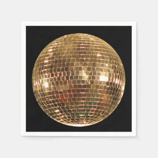 Mirrored Disco Ball 2 Paper Napkin