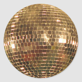 Mirrored Disco Ball 2 Round Sticker