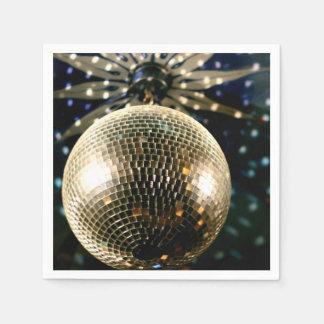 Mirrored Disco Ball 3 Disposable Serviette