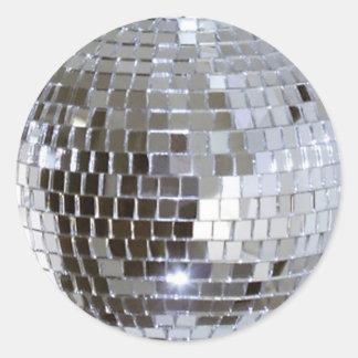 Mirrored Disco Ball Round Sticker