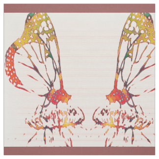 Mirrored Monarchs Fabric