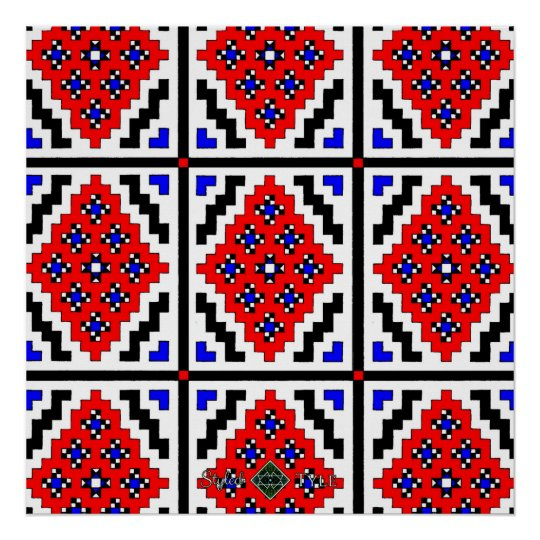 Mirrored Mosaic ( Small ) Poster