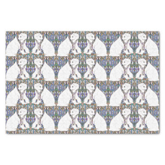 Mirrored Polar Bear Colorful Pattern Tissue Paper