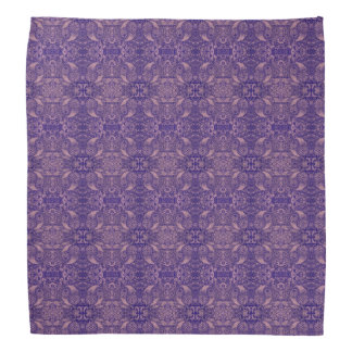 Mirrored Purple Paisley Nature Bandana