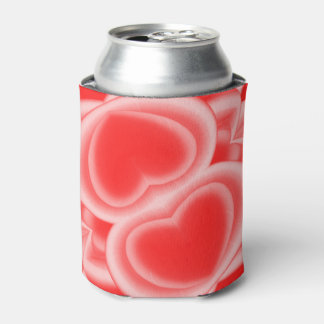 Mirrored Red Hearts Can Cooler