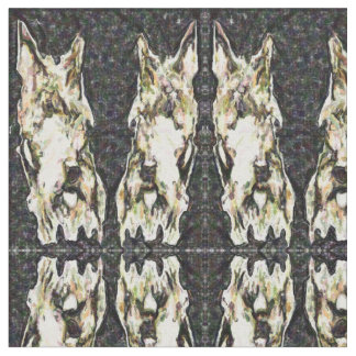 Mirrored Scotty Faces Patterned Fabric