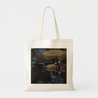 Mirrored Wood Duck Canvas Bags
