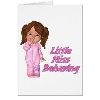 Mis behaving card