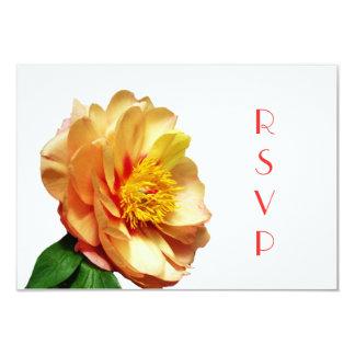 Misaka Japanese Peony RSVP Card 9 Cm X 13 Cm Invitation Card