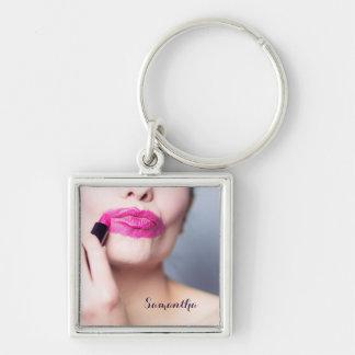 Misapplied Lipstick custom name key chain