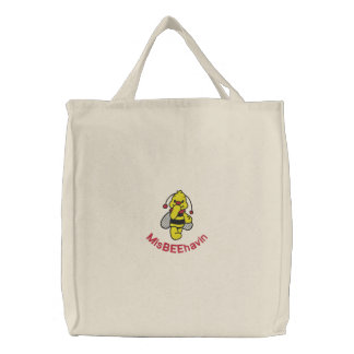 Misbeehavin Bee Embroidered Bag