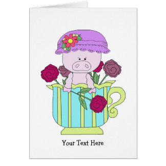 Misc Vertical Template Greeting Card