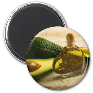 Miscellaneous - Avocado Oil Three 6 Cm Round Magnet