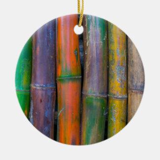 Miscellaneous - Chromatic Bamboos Pattern Round Ceramic Decoration