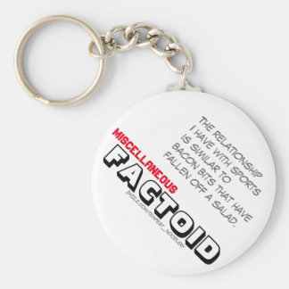 Miscellaneous FACTOID #1 - Bacon bits Basic Round Button Key Ring