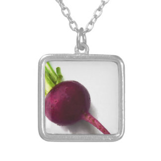 Miscellaneous - Purple Beet Pattern Silver Plated Necklace