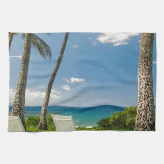 Miscellaneous - Tropical Beach & Palm Trees Ten Tea Towel