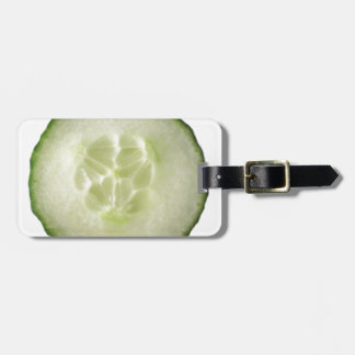 Miscellaneous - White Cucumber Pattern Luggage Tag