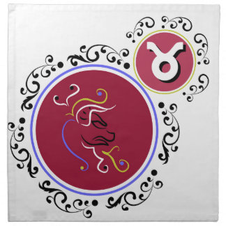 Miscellaneous - Zodiac Signs: Taurus Napkin