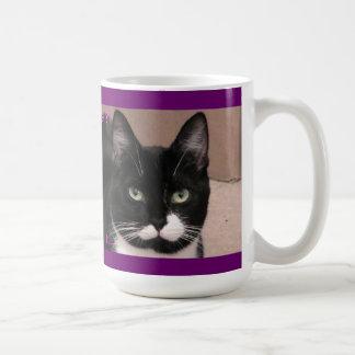 Mischief Tuxedo cat Coffee Mug