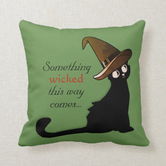 Mischievous Black Cat - Pillow