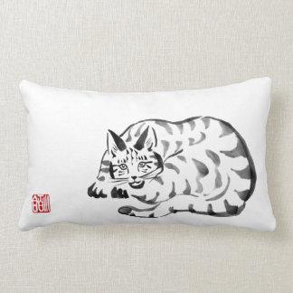Mischievous Cat Throw Pillow