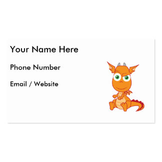 Mischievous Dragon Smirking Pack Of Standard Business Cards