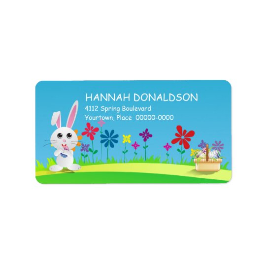 Mischievous Easter Bunny Address Label