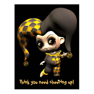 Mischievous Little Jester Postcard