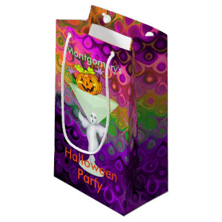 Mischievous Pumpkin Halloween Cocktail Party Small Gift Bag