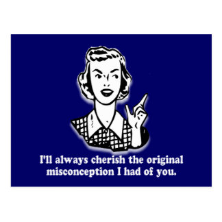 Misconception - Sarcastic Humor Postcard