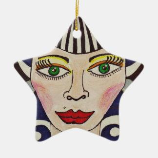 """""""Misfit Doll"""" Ceramic Ornament"""