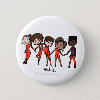 Misfits Cast 6 Cm Round Badge