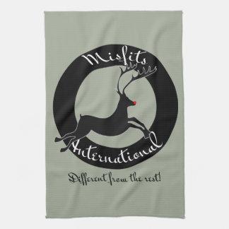 Misfits International holiday towels