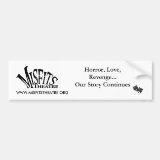 Misfits Theatre Bumper Sticker