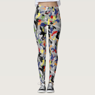 Mish Mash (gray background) Leggings