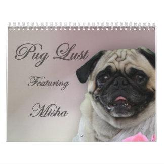 Misha for Pug Lust, pug lingerie calendar