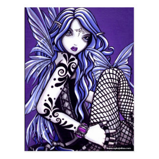 Misha Tattooed Butterfly Faery Fantasy Postcard