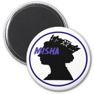 Misha & the Queen 6 Cm Round Magnet