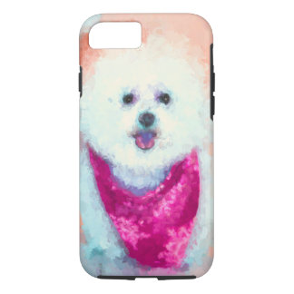 Mishie, the Bichon Frise iPhone 8/7 Case